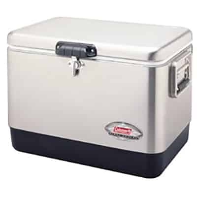 8. Coleman 54-Qt Stainless Steel Cooler