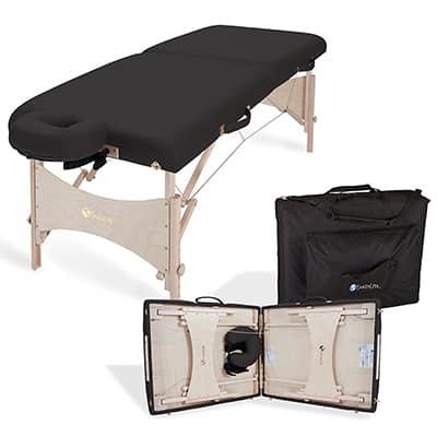 7. EARTHLITE Harmony DX Eco-Friendly Portable Massage Table Package