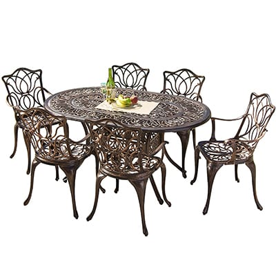 4. Great Deal Furniture Aluminum Dining Set