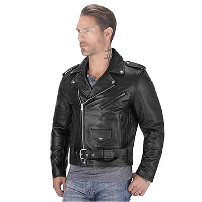 9. Viking Cycle Cowhide Leather Jackets