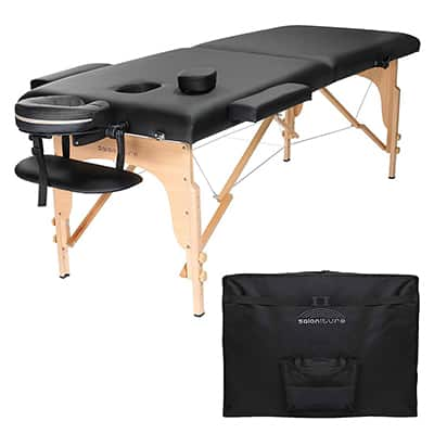6. Saloniture Professional Portable Massage Table, Folding with Carrying Case