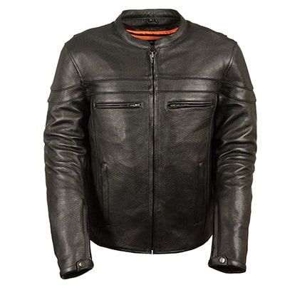 3. Milwaukee Men's Sports Leather Jacket