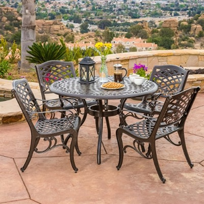 7. Great deal Furniture Bronze Dining Set