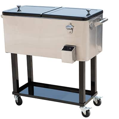 4. Outsunny 80-Qt Stainless Steel Cooler