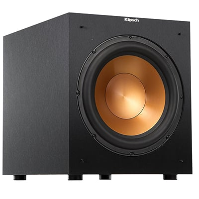 2. Klipsch R-12SW Powered Subwoofer