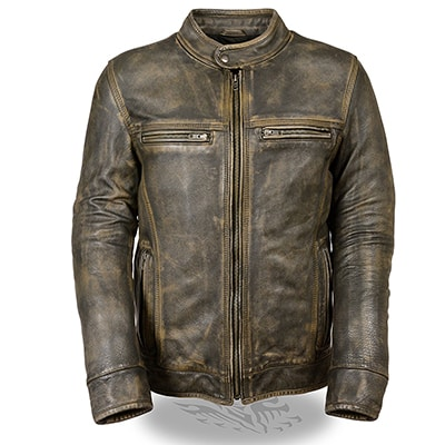 2. Milwaukee Men's Brown Leather Jacket