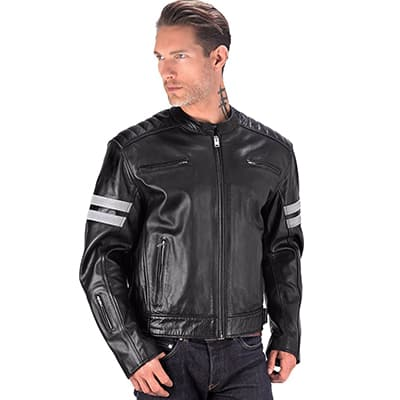 4. Viking Cycle Premium Leather Jackets