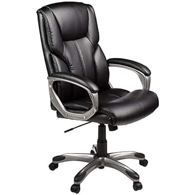 3. AmazonBasics High-Back Executive Chair