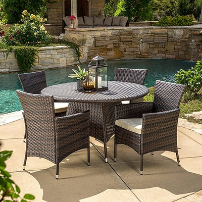 10. Great Deal Furniture 5PC Dining Set