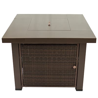 7. Pleasant Hearth Fire Pit Table