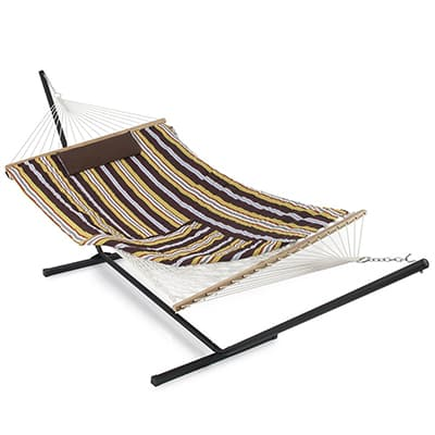 7. Belleze Rope Hammock with Stand