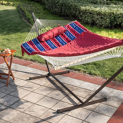 9. Lazy Daze Hammocks with Pad and Stand