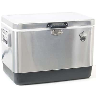 6. Rio Brands 54-Qt Stainless Steel Cooler
