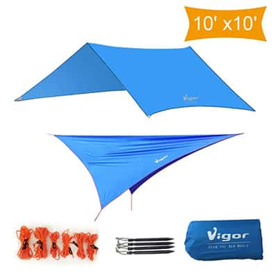 10: Vigor Camping Shelter Waterproof Tent Tarp
