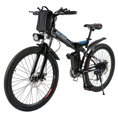 6. ANCHEER 26-Inch Electric Bike