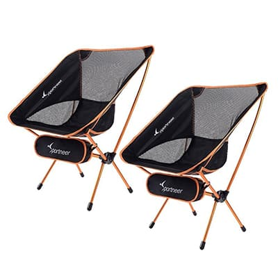 7. Sportneer 2-Pack Backpack Chairs