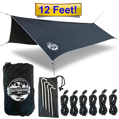 7: The Outdoor Way Hammock tarp