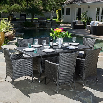 Garden Oasis Harrison 7 Piece Dining Set Amazon