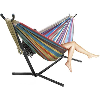10. Sorbus Double Hammock & Stand