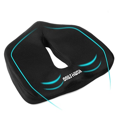 4. HOMYSNUG Memory Foam Seat Cushion
