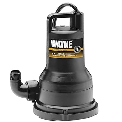 9. Wayne VIP50 Thermoplastic Portable 1/2 HP Electric Water Removal Pump