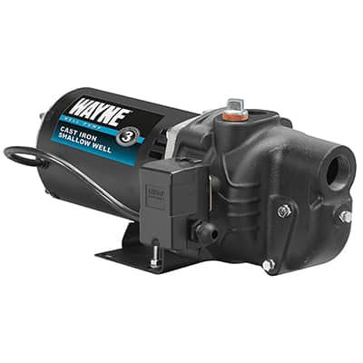 5. WAYNE SWS100 Cast Iron Shallow Well Jet Pump, 1 HP up to 25 feet