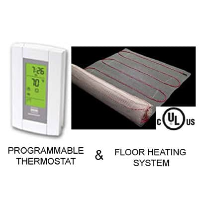 1. Warming Systems 20 sqft Mat Electric Floor Heating System