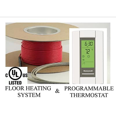 5. Warming Systems 50 Sqft Electric Radiant Floor Heating System