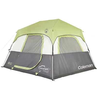 4. Coleman Instant Cabin 6 Tent with rainfly