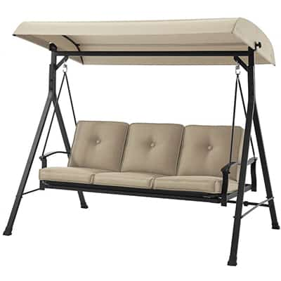 4. Mainstays three-person Seat Porch and Patio Swing