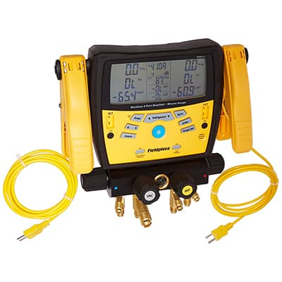 3. Fieldpiece 4-Port SMAN460 Wireless Digital Manifold with Micron Gauge
