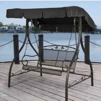 7. BLOSSOMZ Porch Swing Deck Furniture for Outdoor