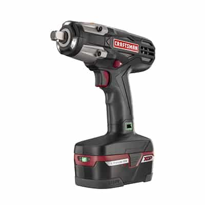 "7. Craftsman Heavy Duty Impact Wrench Kit, C3 ½"" 4ah XCP Cordless Tools High Torque"