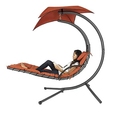 8. Best Choice Products Hanging Arc Chaise Lounge Chair