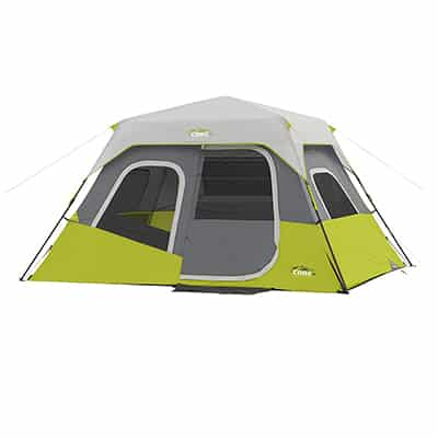 6. CORE Instant Cabin Tent, 11' x 9', 6 Person
