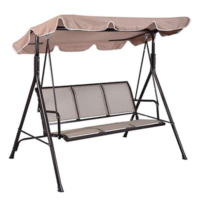 10. Giantex three-Person Outdoor Patio Swing Canopy