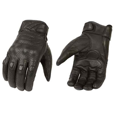 7. Milwaukee Leather Premium Leather Men's Perforated Cruiser Gloves