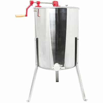 7. VIVO Stainless Steel Bee Honey Extractor SS Honeycomb Drum, Four 4 to Eight 8 Frame