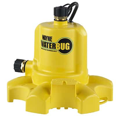 7. WAYNE WWB Water BUG Submersible Pump with Multi Flow Technology