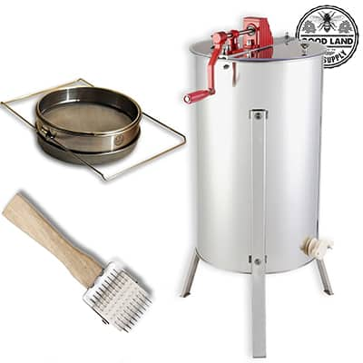 1. Goodland Bee Supply two Frame Honey Extractor