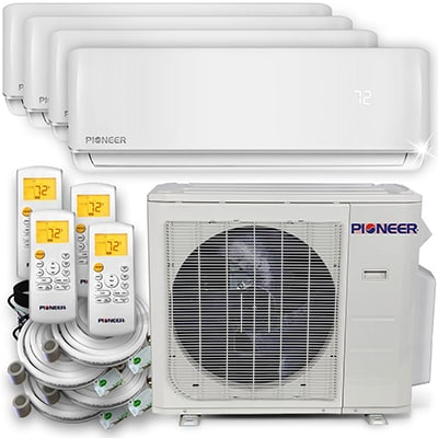 4. Pioneer Air Conditioner Inverter ++ Ductless Multi-Split System