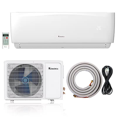9. Klimaire Ductless Mini-Split Inverter Air Conditioner
