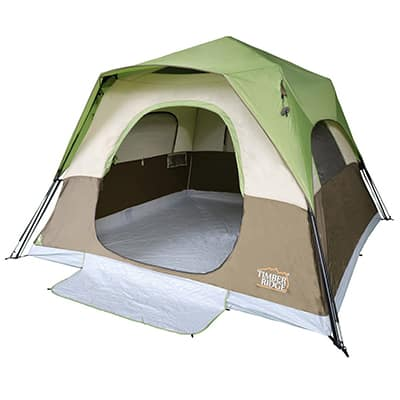 7. Timber Ridge 6 Person Camping Tent Instant Cabin With Rainfly for Outdoor