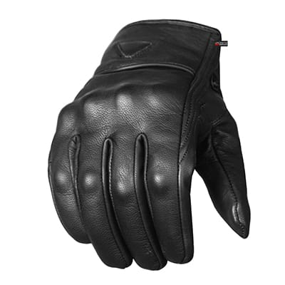 5. Jackets 4 Bikes Men's Leather Street Motorcycle Gloves