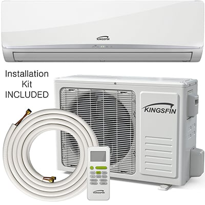 3. Kingsfin Mini Split Ductless Air Conditioner
