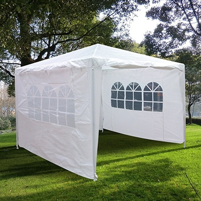 10. Quictent 10'x10' Outdoor Canopy Party Wedding Tent Gazebo Pavilion 2 Window Side Walls