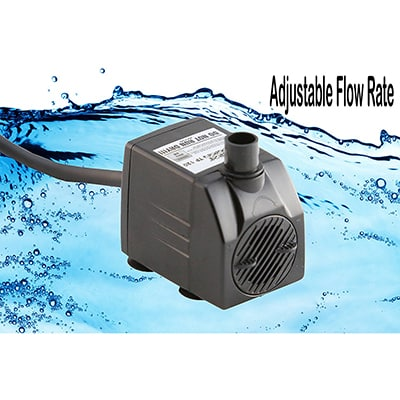 3. Tiger Pumps Submersible Water Pump, Pond Pump, 120GPH