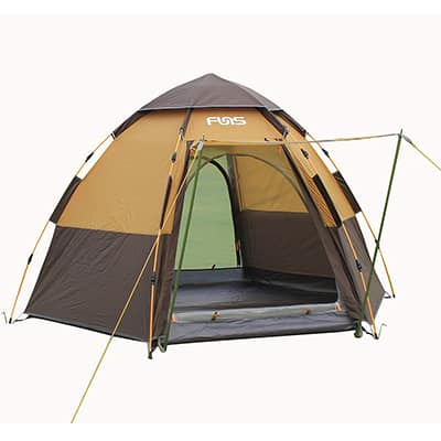 FUNS 8 by 9 feet Hexagon Pop up C&ing Gazebo Easy One Touch Automatic Set- Up Instant Tent & Top 20 Best Instant tents in 2019 - Closeup Check