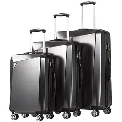 8. Coolife Spinner Luggages 3-Piece Set