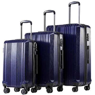 4. Coolife Expandable Luggage Spinner Suitcase